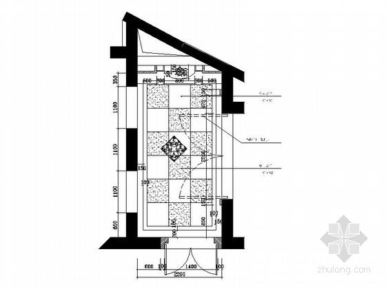 [成都]豪华酒店电梯间室内装修施工图
