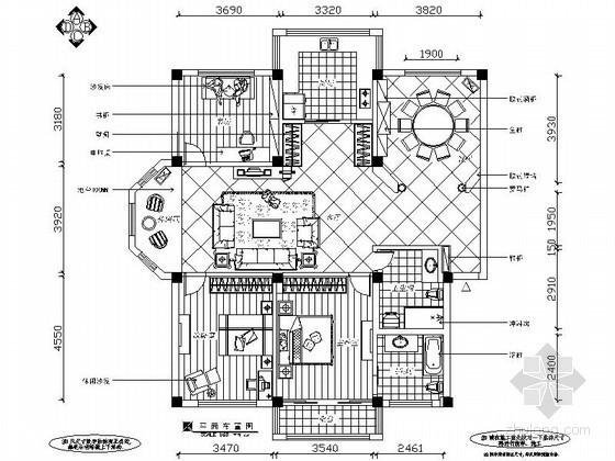 160平米简约欧式三室两厅装修图(含效果)