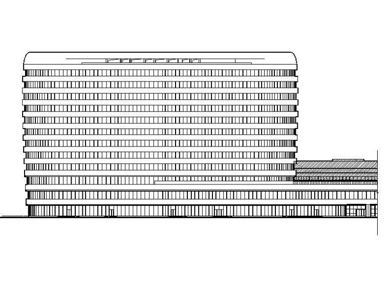 [江苏]高层市级圆弧外观康复疗养院改建建筑施工图