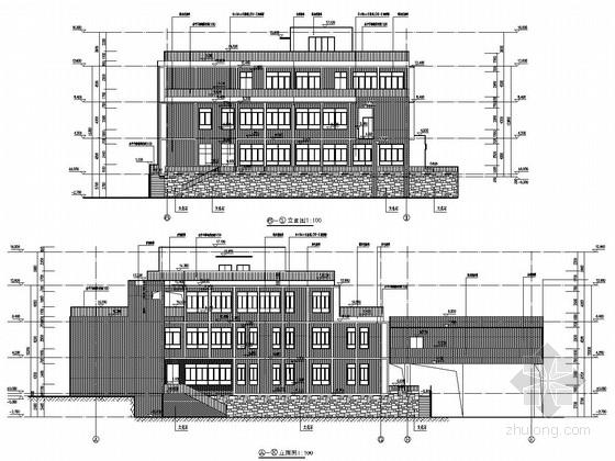 [重庆]三层框架结构重点大学教职工食堂结构施工图(含详细地质勘察 计算书 建筑图)