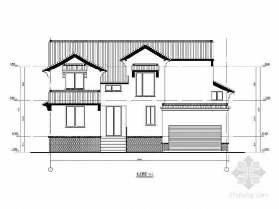 [苏州]两层钢框架结构别墅结构施工图(含pkpm计算模型 建筑图)