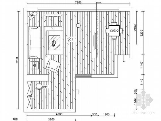 新古典雅致居室设计装修施工图(含效果)