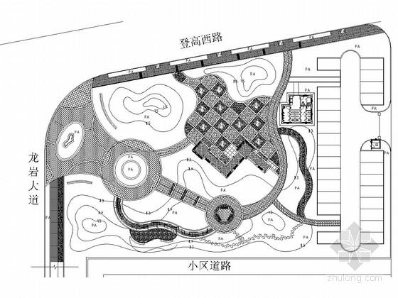 [西安]城市街头广场景观绿化施工图