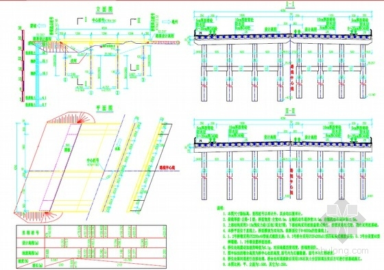 3-13m预应力混凝土后张法简支T梁桥设计套图(53张)