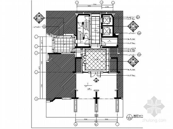 [上海]富丽堂皇五星级花园酒店大堂楼梯间室内装修施工图