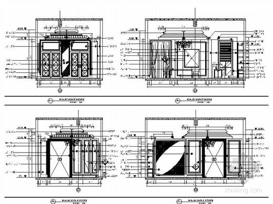 [苏州]奢华欧式风格商务会所四层卧室休息区室内装修图(含效果) 开放厨房立面