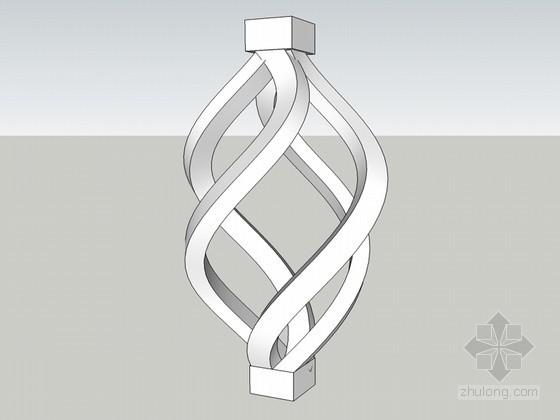 铁艺造型 欧式造型sketchup