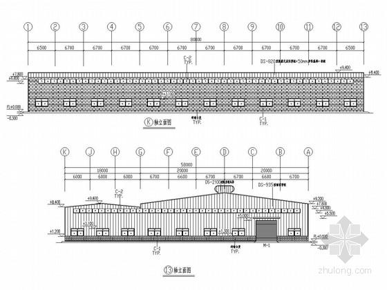 20(18)米跨门刚结构家具厂厂房结构施工图