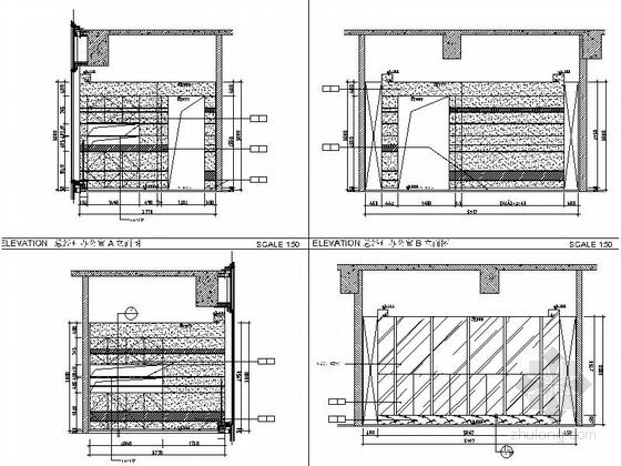 [佛山]现代高端甲级写字楼大小样板间室内装修图(含效果) 总经理室立面