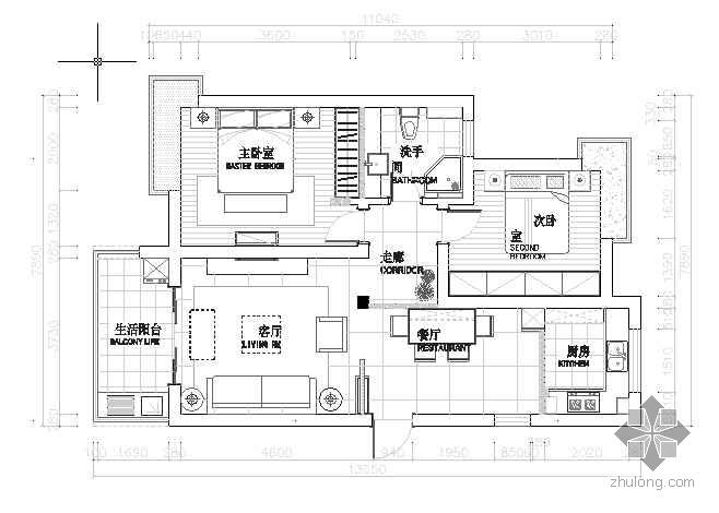 [浙江]现代简约两居室设计方案(含效果)