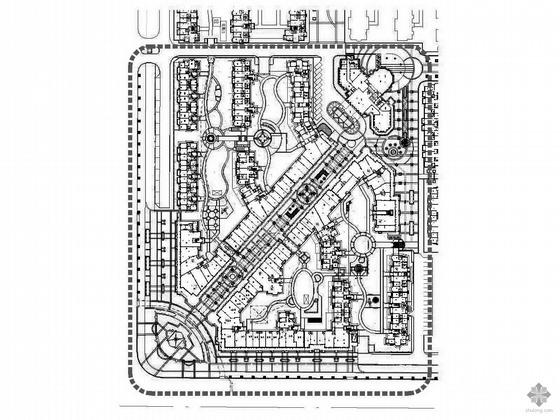 哈尔滨住宅小区景观平面图