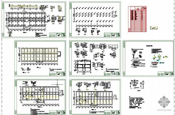 某3层框架钢结构办公楼图纸