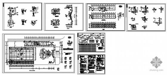 某室外大型游泳池结构图纸