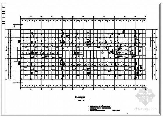 某附建式六级人防工程结构设计图
