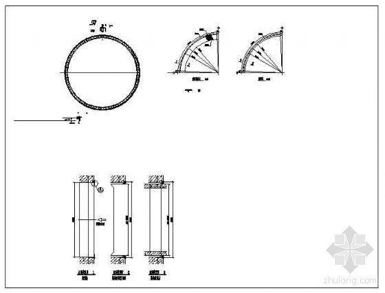 盾构法隧道出洞防水装置节点构造详图