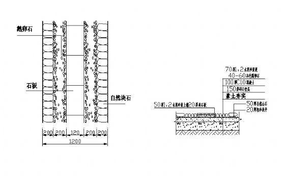 园路铺装详图5-4