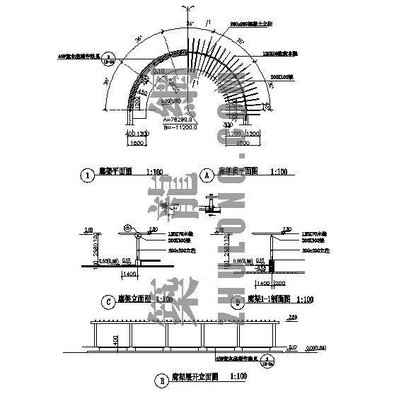 廊架详图-4