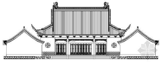 某财神殿建筑方案图