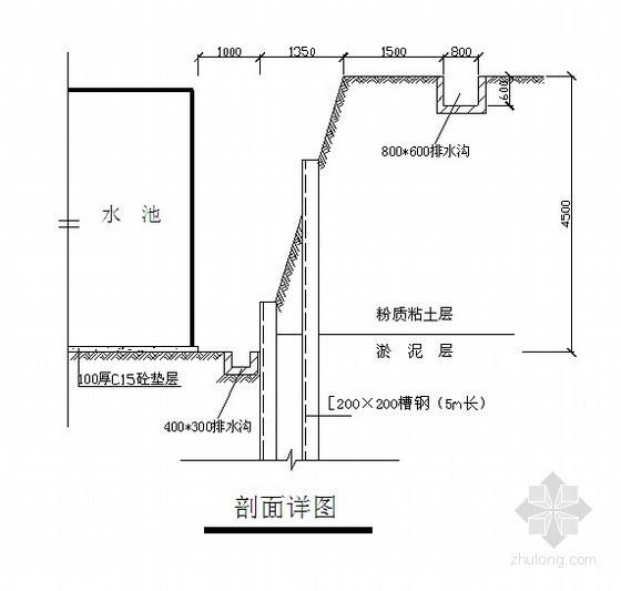 [福建]消防水池土方开挖支护施工方案(钢板桩)