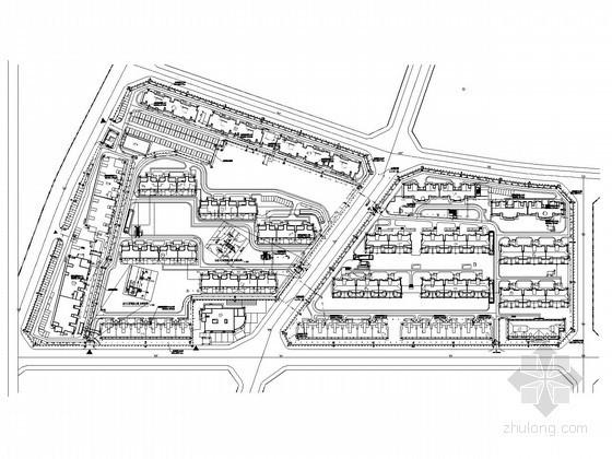 [北京]大型高层居住小区智能化工程施工图纸98张(25栋 地下两层 大样图)