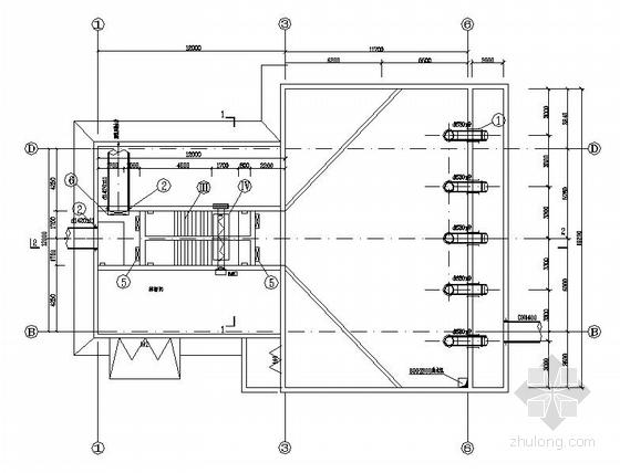 某污水处理厂工艺设计流程图