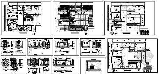 某私宅四居室装修施工图-4