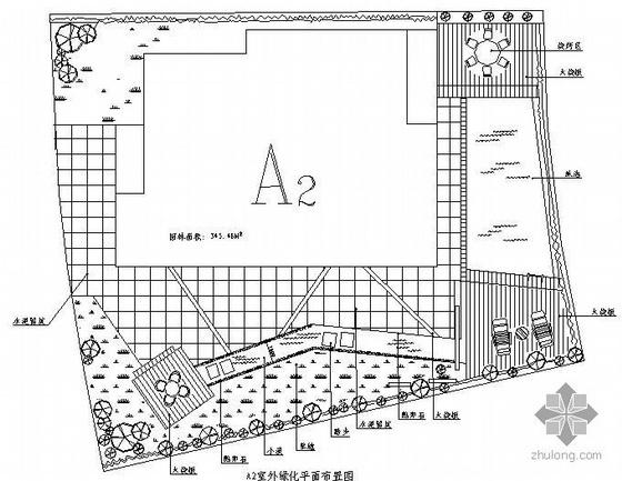 广州某别墅区三类别墅庭院景观设计平面图