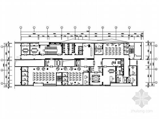 [广州]时尚舒适办公空间设计CAD施工图