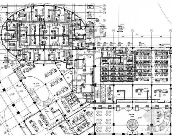 [江苏]多层公共建筑空调通风系统设计施工图(风冷热泵)