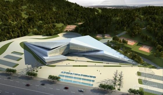 [四川]现代风格文化体育中心建筑概念设计方案文本(灾后重建)