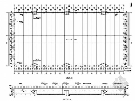 30米跨单层门式刚架轻钢结构生产车间结构施工图(含建筑图)