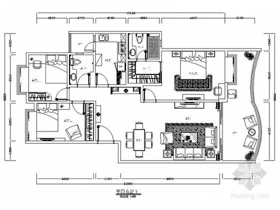 [广州]花园洋房小区欧式风情三居室雅居设计装修图
