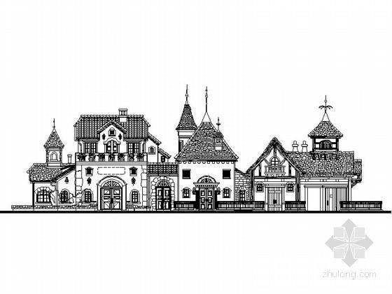2层欧式风格咖啡店建筑设计施工图
