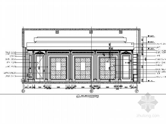 [苏州]奢华欧式风格商务会所三层健身娱乐区室内装修图(含效果) 立面