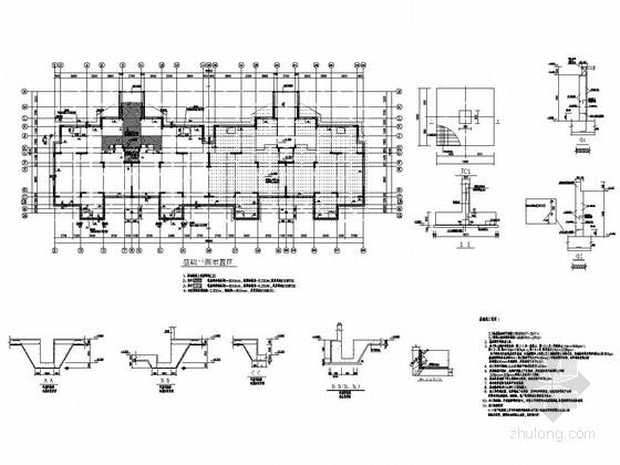 [安徽]三栋地上8F+1层抗震墙结构多层住宅楼结构施工图