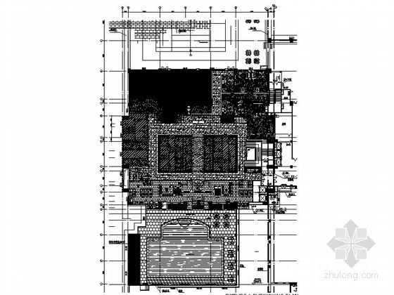 [深圳]五星级酒店高档现代康体中心装修施工图(含效果)