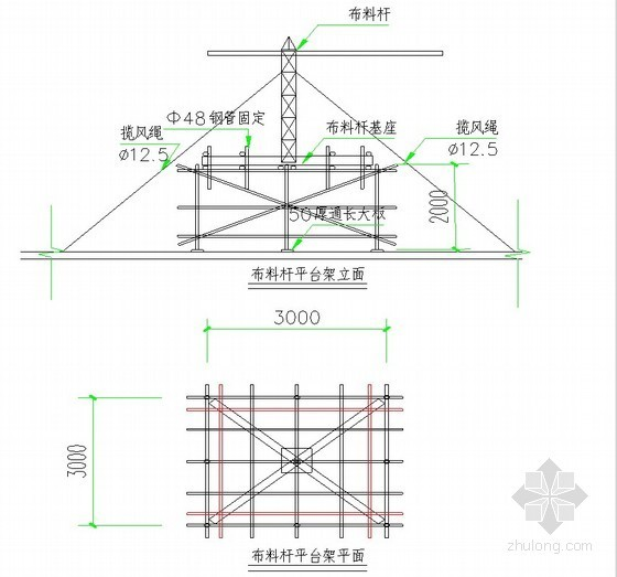 [北京]高层住宅楼混凝土工程施工方案(流水段划分示意图)