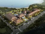 高层新中式风格邛海宾馆建筑设计方案文本(含多套方案)