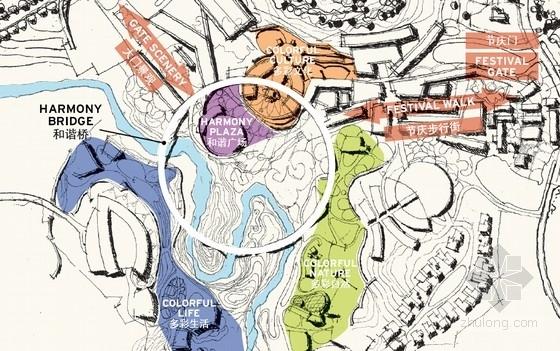 3套中式风格大型旅游度假区建筑分析图