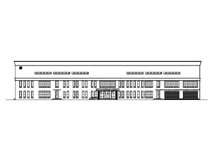 [江西]多层石漆外墙网球及羽毛球馆建筑施工图(含水暖电图纸)