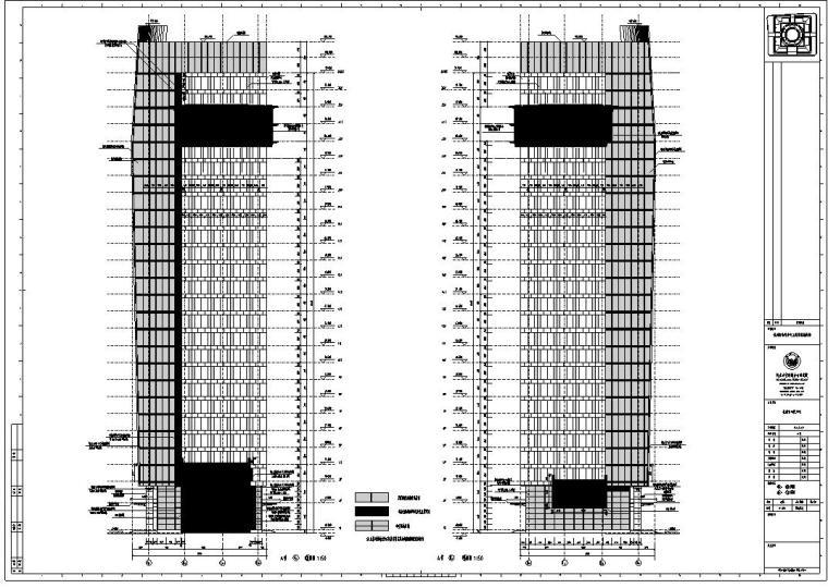 [浙江]某市市民中心楼房建筑施工图cad(56个文件夹)_6