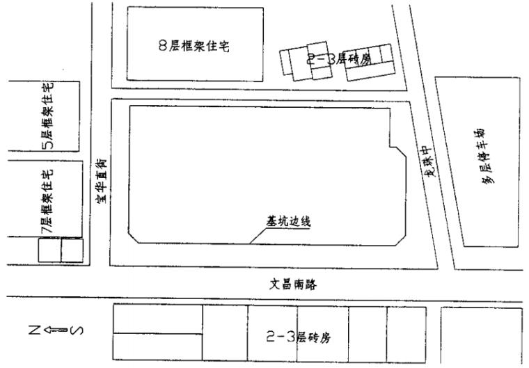 与主体相结合的深基坑支护结构的设计与施工_1