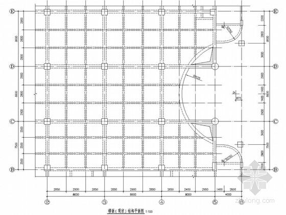 商场楼层局部开洞改造加固结构施工图