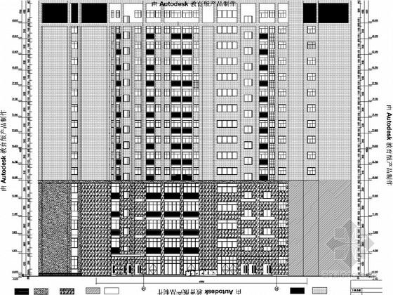 [安徽]15层框架剪力墙结构中学教育综合楼建筑及结构图(图纸详尽)