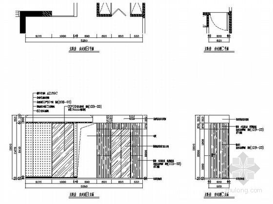 [湖南]温馨现代130平四居室室内装修施工图主卧房立面图