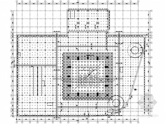 75层型钢混凝土混合结构商业办公楼结构施工图(350米)