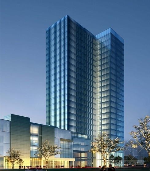 [上海]现代风格办公综合体建筑设计方案文本