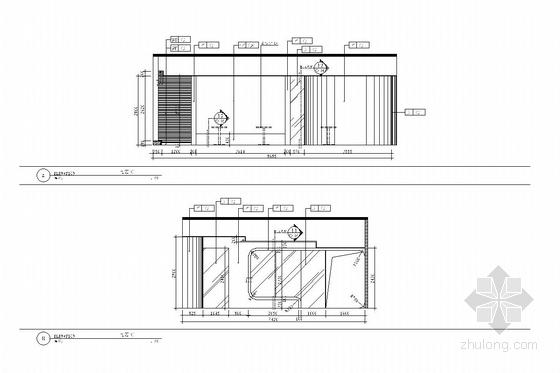 [深圳]经济贸易服务中心六、七层室内施工图-[深圳]经济贸易服务中心室内施工图 咖啡厅立面图