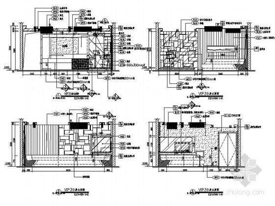 [石家庄]大型企业集团旗下高档现代KTV室内设计施工图(含效果图) 立面图