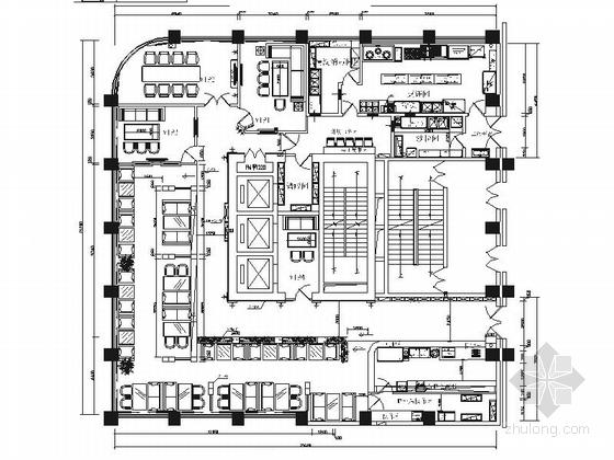 [陕西]精致英式风格咖啡厅室内设计施工图(含效果)